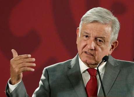 Presidente do México, Andrés Manuel López Obrador, durante entrevista coletiva na Cidade do México 31/05/2019 REUTERS/Henry Romero