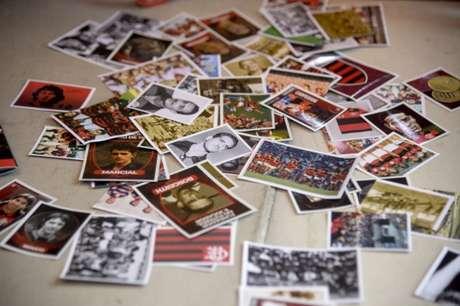 Álbum de figurinhas do Flamengo foi sucesso de vendas nos primeiros dias (Foto: Marcelo Cortes/Flamengo)