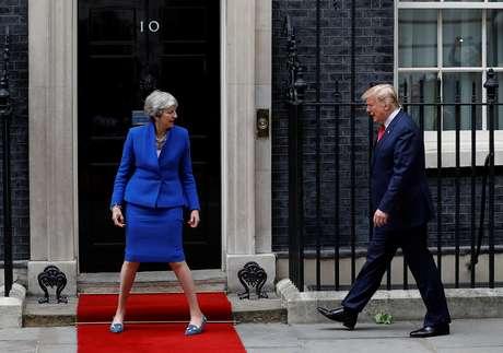 Presidente dos EUA, Donald Trump, e premiê do Reino Unido, Theresa May 04/06/2019 REUTERS/Peter Nicholls