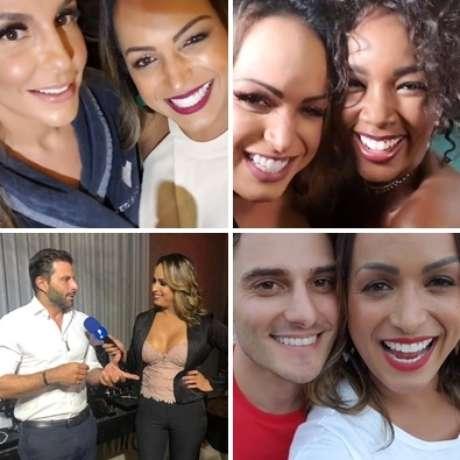Lisa com Ivete Sangalo, Iza, Henri Castelli e Hugo Bonemer: querida entre as celebridades
