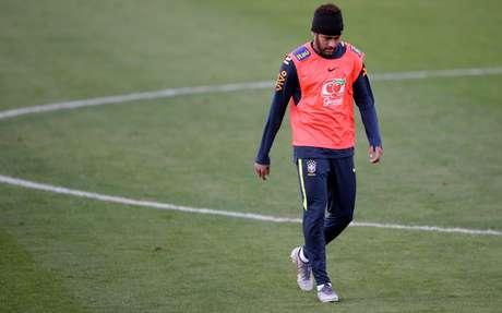 Neymar durante treino da seleção brasileira na Granja Comary, em Teresópolis 04/06/2019 REUTERS/Ricardo Moraes
