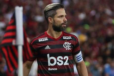 Diego, jogador do Flamengo, durante a segunda partida contra o Corinthians, válida pelas oitavas de final da Copa do Brasil 2019.