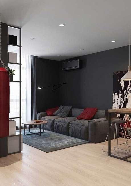 61. Utilize tons de vermelho que se harmonize com o restante da decoração do ambiente – Foto: Pinterest