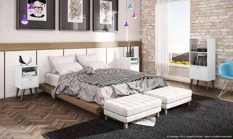 57. Decore o quarto de luxo com o máximo de conforto – Foto: Lojas kd
