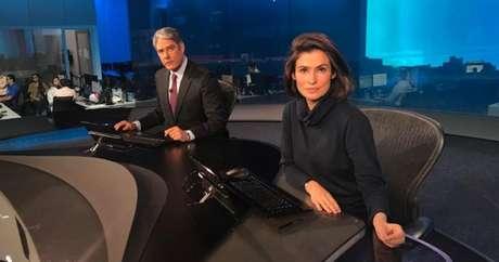 William Bonner e Renata Vasconcellos, âncoras do Jornal Nacional: a Globo tem sido 'furada' pelos canais rivais na cobertura do caso