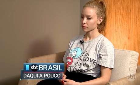 Najila falou pela primeira vez sobre o caso em entrevista ao SBT Brasil