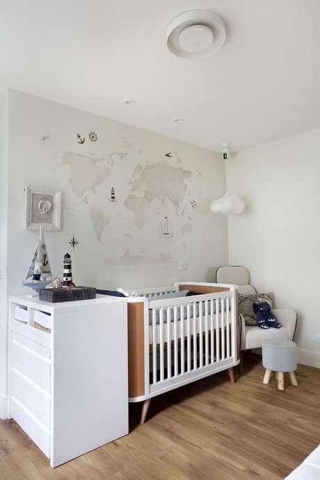 18. Decoração clean do quarto de luxo para bebês – Foto: Revista VD