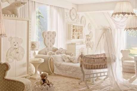 53. Quarto de luxo com decoração de ursos para bebês – Foto: Graziela