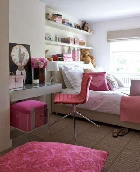 41. Quarto de luxo cor de rosa – Foto: Revista VD