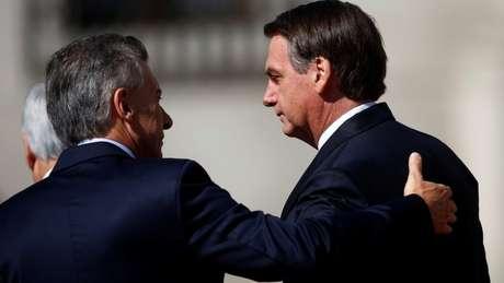 Mercosul foi um dos principais temas do encontro entre comitivas de Macri e Bolsonaro