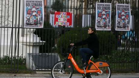 Visita de Bolsonaro foi alvo de protestos na Argentina