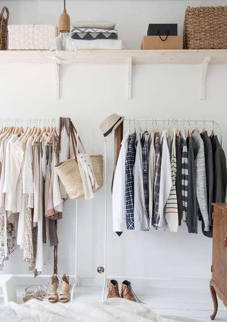 19. Quanto maior o closet aramado, mais organizado fica o seu espaço.