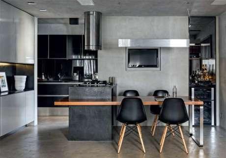 1. Decoração de cozinha na cor cinza. – Foto: Diego Rebelo