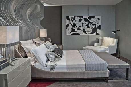 49. Decoração moderna em tons de cinza e branco – Foto: Tua casa