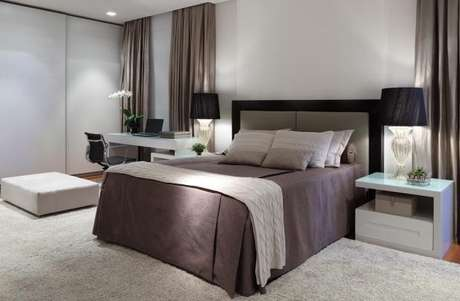 52. Combine diferentes tons de cinza para o seu quarto – Foto: Rocha Andrade