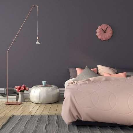 14. A cor cinza fica mais feminina quando usada com o rosa. – Foto: Pinterest