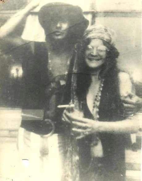 Os cantores Serguei e Janis Joplin no Rio de Janeiro, no início da década de 70.