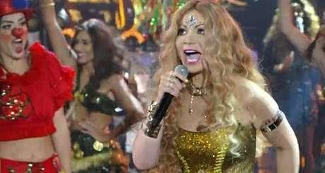 Solange Almeida foi elogiada pelo júri do Show dos Famosos ao se apresentar como Elba Ramalho
