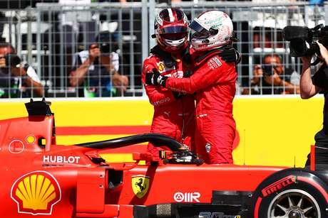 Leclerc feliz pela pole de Vettel, mas espera uma boa corrida para ele mesmo amanhã