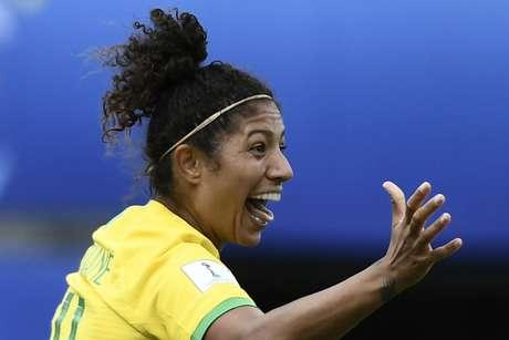Cristiane foi eleita a melhor jogadora da partida em votação na internet (AFP)