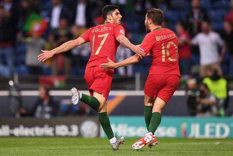 Gonçalo Guedes marcou o único gol do jogo (Foto: PATRICIA DE MELO MOREIRA/AFP)