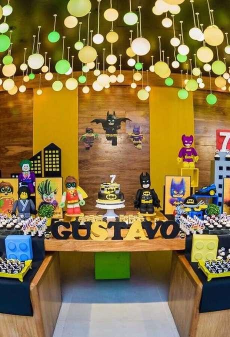 5. Os detalhes decorativos podem fazer toda a diferença na festa infantil do Batman – Foto: Pinterest