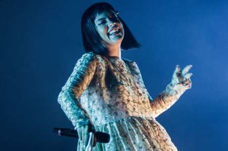 A cantora britânica Lily Allen se apresenta durante a 23ª edição do Cultura Inglesa Festival, realizado no Memorial da América Latina