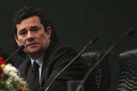 O ministro da Justiça, Sérgio Moro, em evento público
