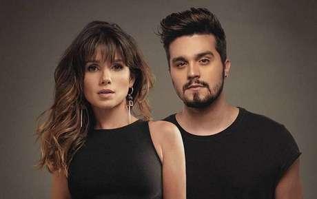 Paula Fernandes e Luan Santana em divulgação do single 'Juntos', versão de 'Shallow'.