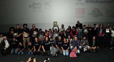 Vencedores e equipe da terceira edição do Curta no Celular, realizado em 2017