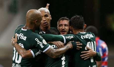 Palmeiras venceu seis dos sete jogos no Brasileirão 2019 e ainda não perdeu no torneio (Foto: Divulgação/Twitter)
