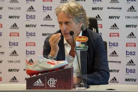 O técnico português Jorge Jesus assinou contrato de um ano com o Flamengo (Foto: Alexandre Vidal/Flamengo)