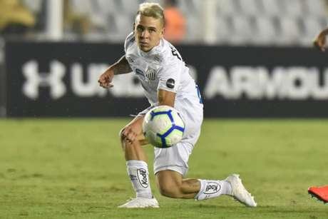 Soteldo teve boa atuação contra o Atlético-MG, no último domingo, na Vila Belmiro (Ivan Storti/Santos)