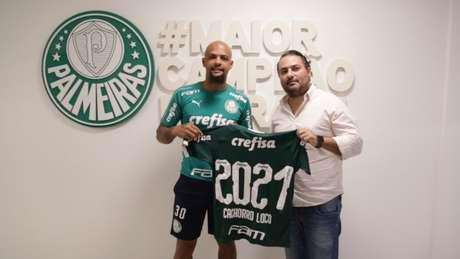 Aos 35 anos de idade, Felipe Melo ampliou seu contrato até dezembro de 2021 (Agência Palmeiras/Divulgação)