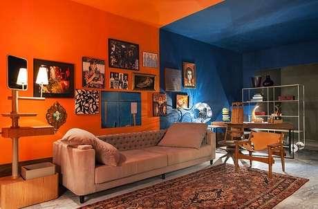 14. Combinação entre tons de azul e laranja. Fonte: Cerâmica Burguina