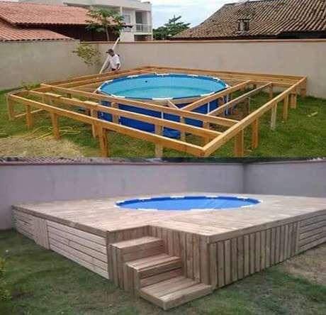 36. Estruturas resistentes permitem que você monte uma piscina de paletes perfeita! Foto: Bauen