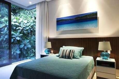 3. Os tons de azul turquesa deram um ar charme interessante ao quarto. Projeto de Infinity Spaces