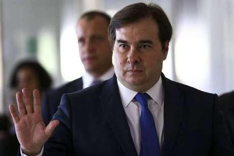O presidente da Câmara, Rodrigo Maia.