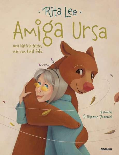 Capa do novo livro infantil de Rita Lee sobre a ursa Rowena.