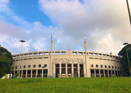 Pacaembu está sendo utilizado para treinos de seleções da Copa América - FOTO: Divulgação