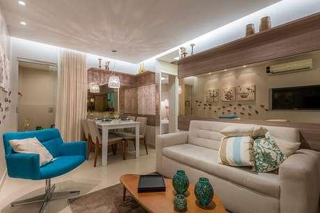 28. Poltronas decorativa encantam o ambiente da sala. Fonte: Blog da MRV