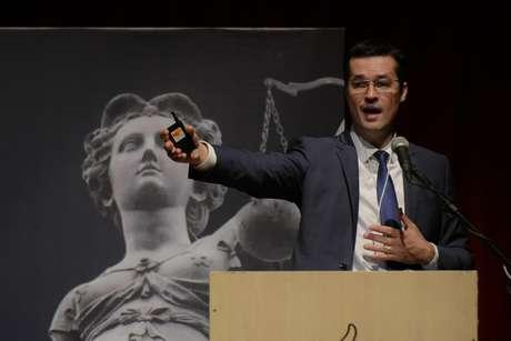 Deltan Dallagnol, Procurador da República durante o Congresso Nacional sobre Macrocriminalidade e Combate à Corrupção realizada. Teatro Positivo. Curitiba, PR.