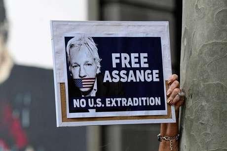 Protesto em Sydney, na Austrália, pede libertação de Assange