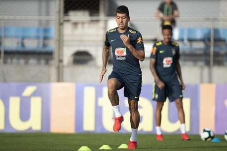Roberto Firmino será o titular da Seleção contra a Bolívia, na sexta-feira (Foto: Lucas Figueiredo/CBF)