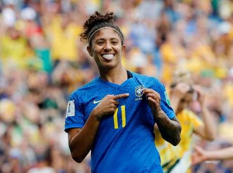 Cristiane comemora gol do Brasil