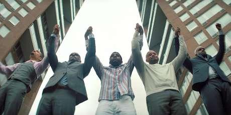 Chris Chalk, Jovan Adepo, Jharrel Jerome, Freddy Miyares, e Justin Cunningham em 'Olhos que Condenam' (2019)