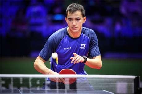 Hugo Calderano brigará por vaga na semifinal no Japão (Foto: Abelardo Mendes Júnior/Rede do Esporte)