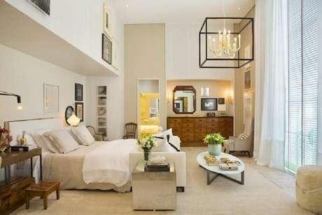 2. A iluminação do quarto é de extrema importante para o relaxamento por isso é muito importante a escolha de lustres para quarto