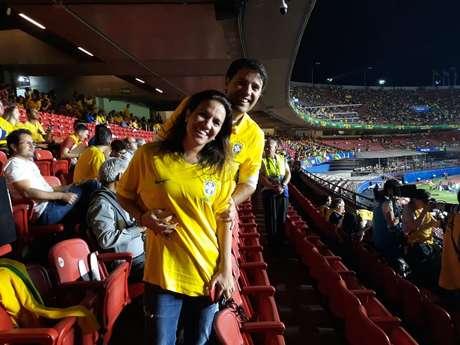 O casal David Magalhães e Lílian Daher acha que a Seleção melhorou sem Neymar