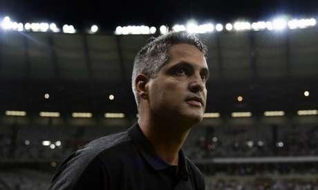 Santana ficou satisfeito com os pontos conquistados pelo Galo nas nove primeiras rodadas do Brasileiro- DOUGLAS MAGNO / AFP